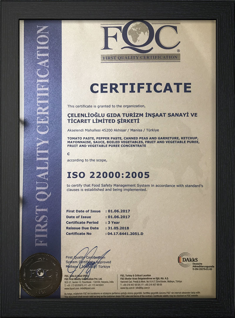 Iso 22000:2005 - Scope